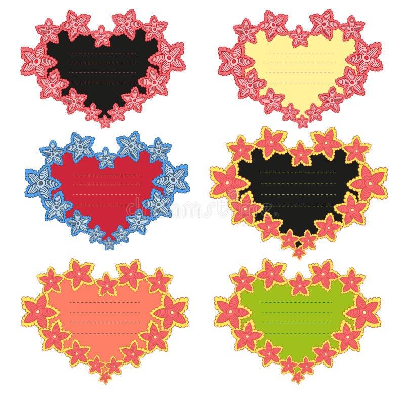 Marco del vector en la forma del corazón ilustración del vector