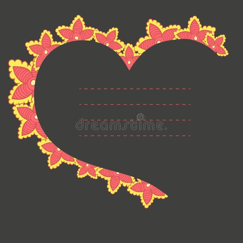 Marco del vector en la forma del corazón libre illustration