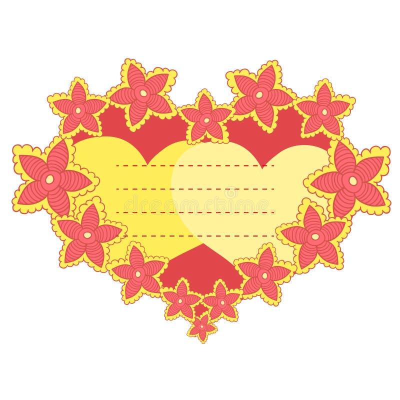 Marco del vector en la forma del corazón stock de ilustración