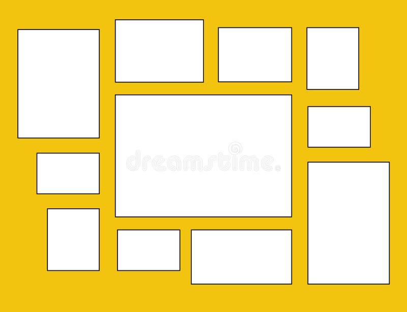 Marco del vector para las fotos y las imágenes libre illustration