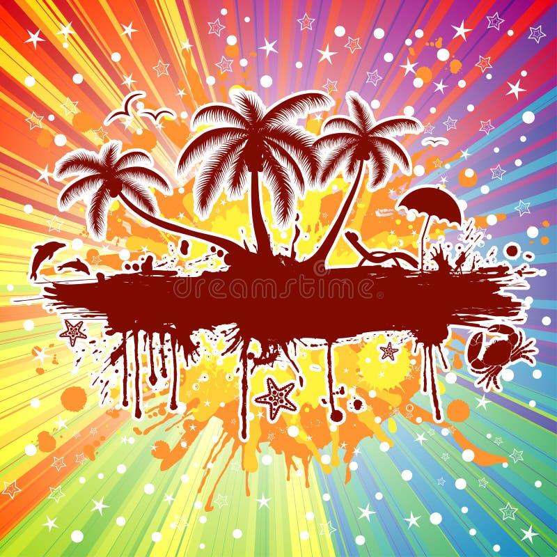 Marco del verano ilustración del vector