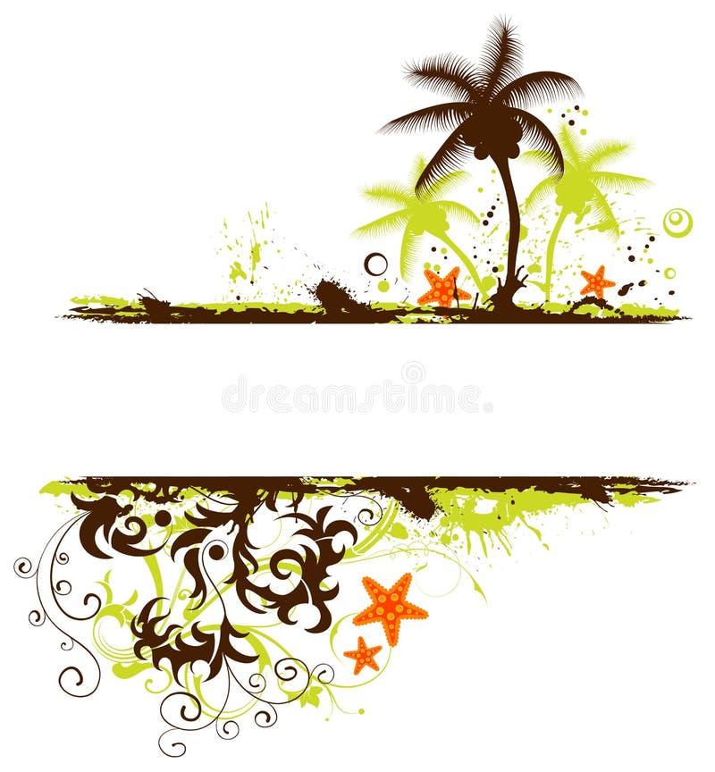Marco del verano stock de ilustración