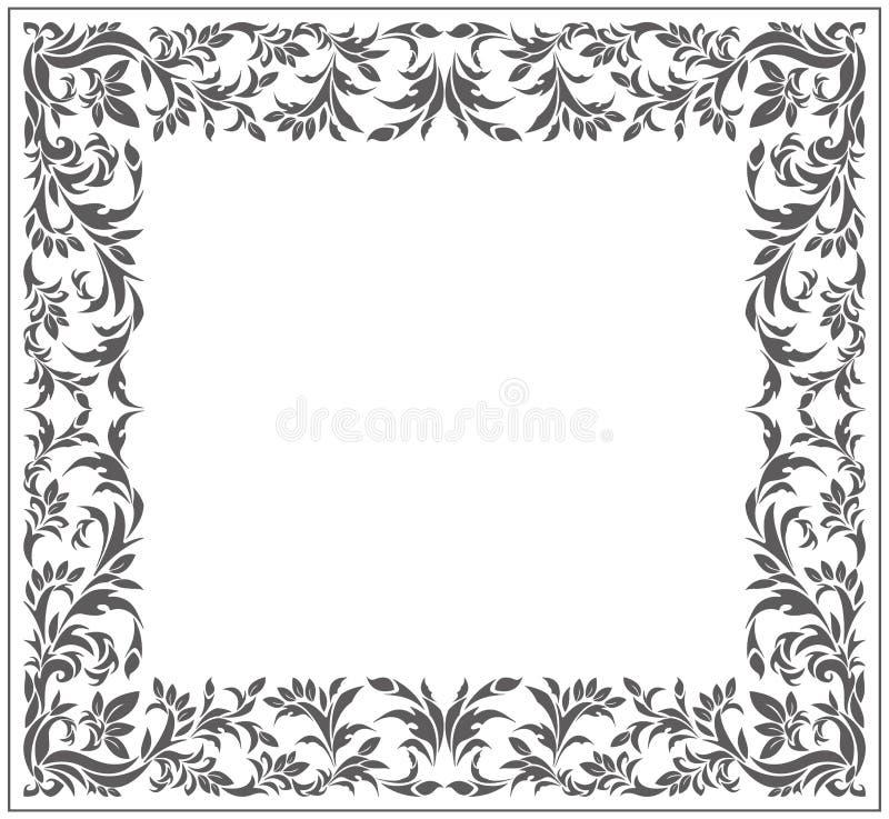 Marco del vintage con el ornamento elegante stock de ilustración
