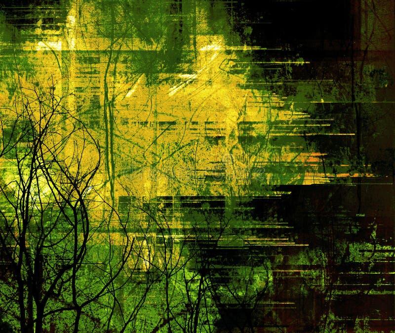 Marco detallado del grunge ilustración del vector