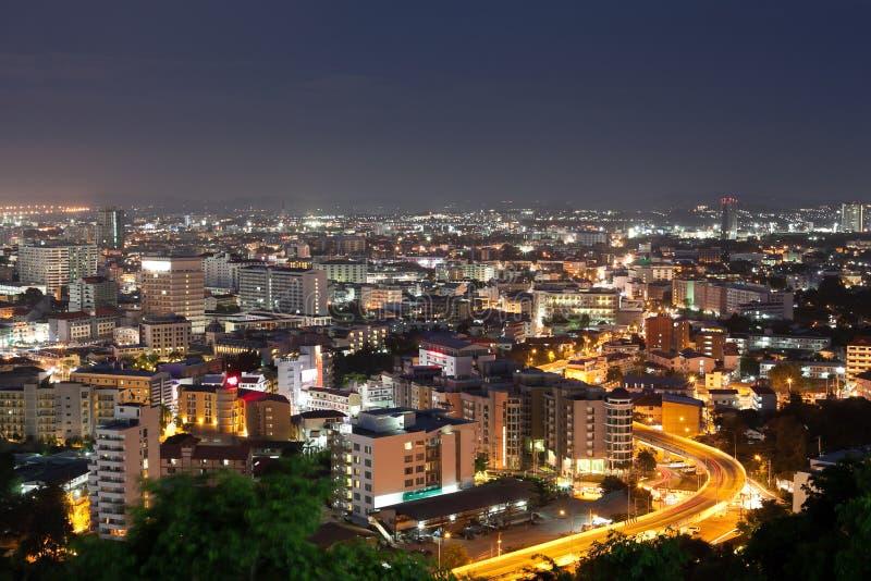 Marco do curso da cidade de Pattaya em Tailândia foto de stock royalty free