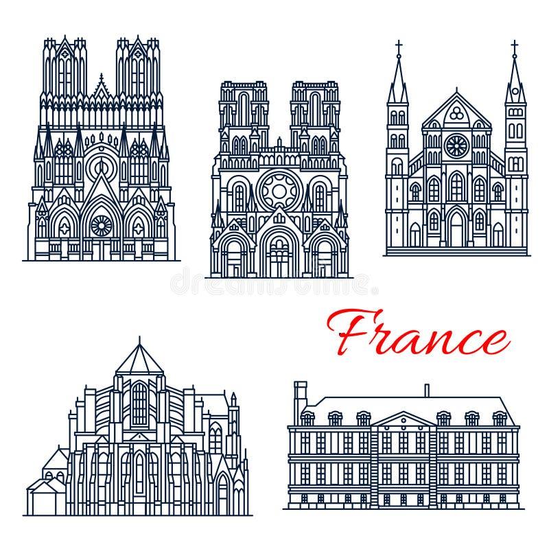 Marco do curso do francês Roman Catholic Church ilustração royalty free