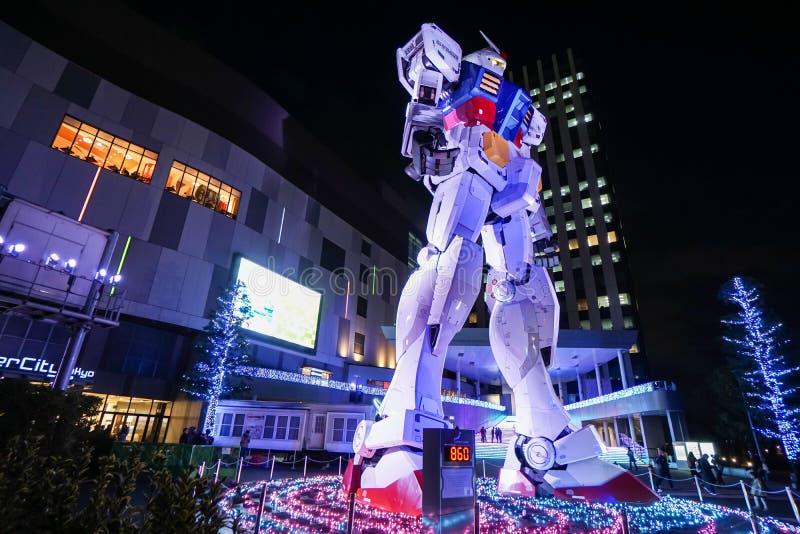 Marco do modelo de Gundam do shopping de Odaiba fotografia de stock royalty free