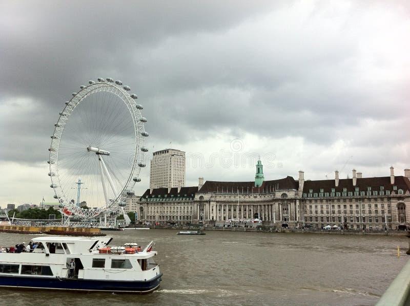 Marco do olho de Londres fotografia de stock