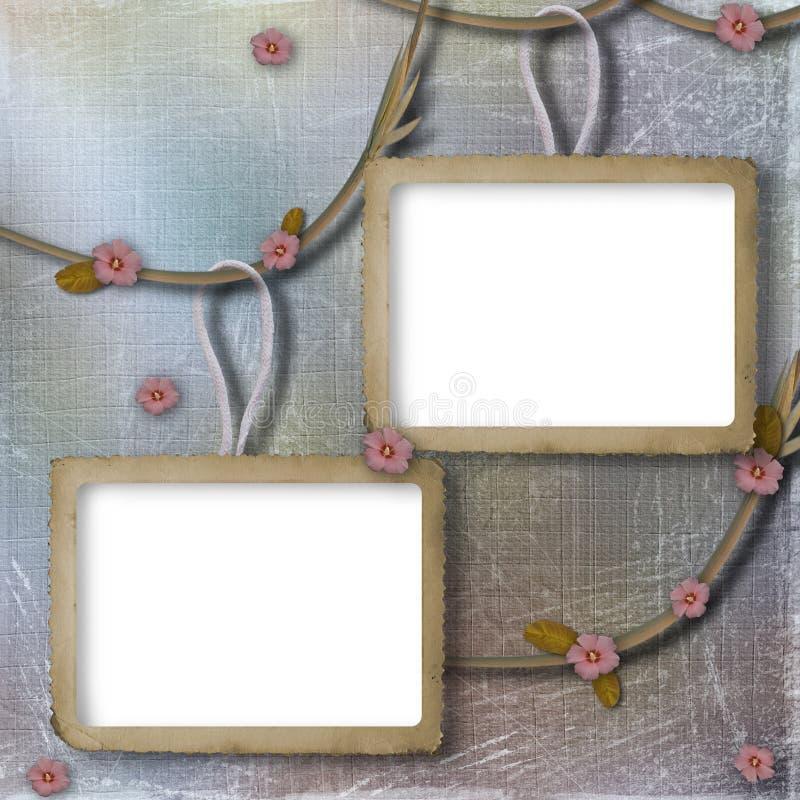 Marco dos para las fotos en el fondo fotos de archivo libres de regalías