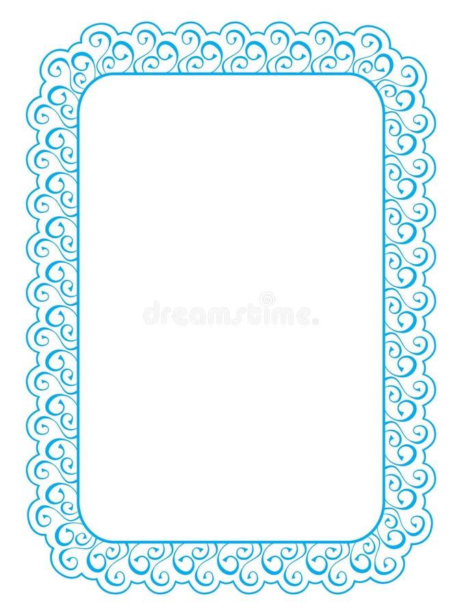Marco Elegante Azul En El Fondo Blanco Ilustración del Vector ...