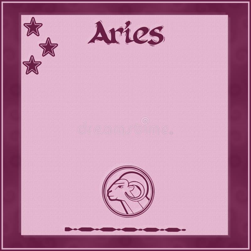 Marco elegante con el muestra-aries del zodiaco ilustración del vector