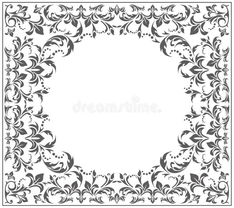 Marco elegante del círculo con el ornamento del vintage ilustración del vector