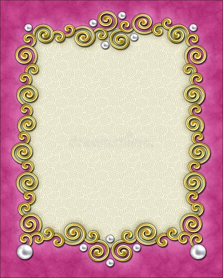 Marco elegante del remolino imagen de archivo libre de regalías