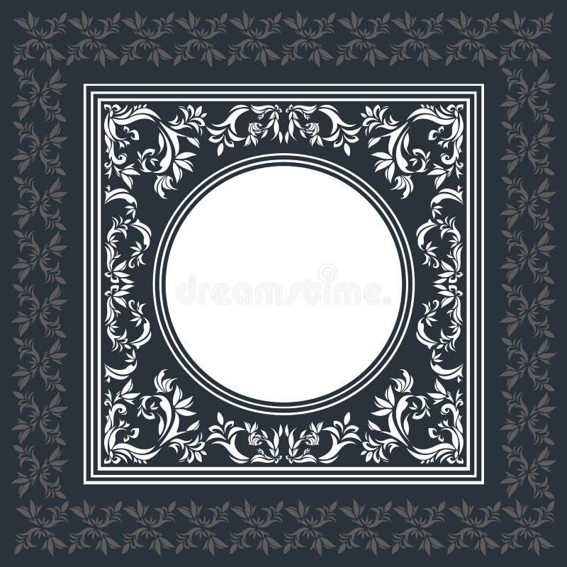 Marco elegante del vector con el ornamento del vintage ilustración del vector