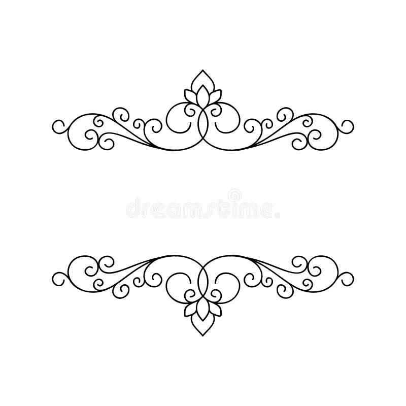 Marco elegante ornamental ilustración del vector