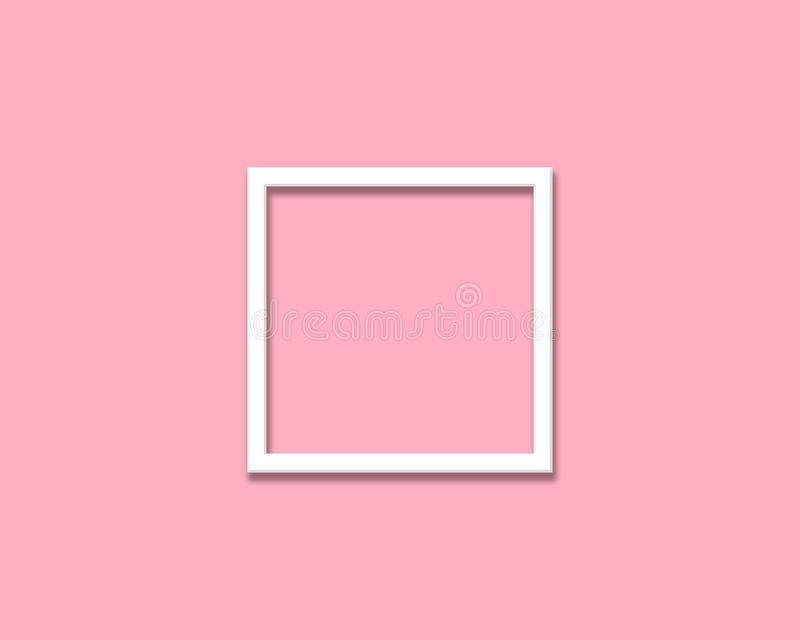 Marco en blanco de la foto aislado en fondo ligero imagen de archivo libre de regalías