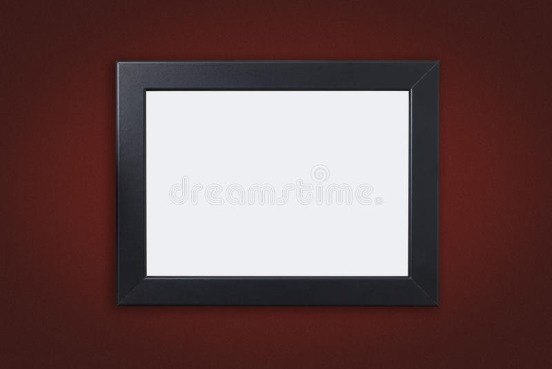 Marco en blanco de la foto con la frontera negra en rojo imagen de archivo libre de regalías