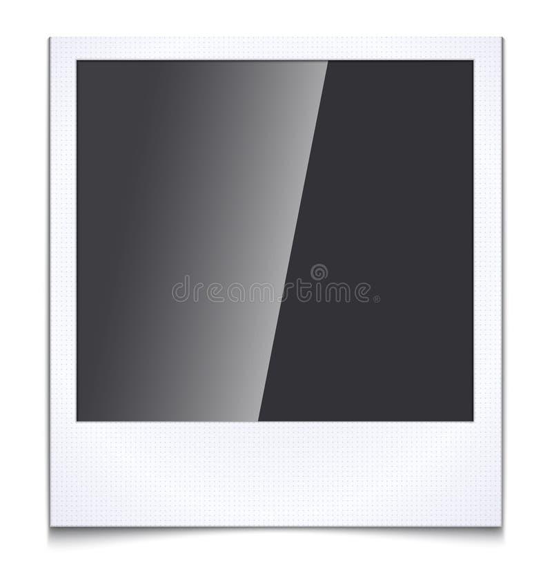 Marco en blanco de la foto en el fondo blanco stock de ilustración