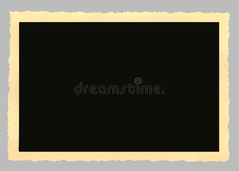 Marco en blanco de la vendimia, sin desbastar por los bordes foto de archivo libre de regalías