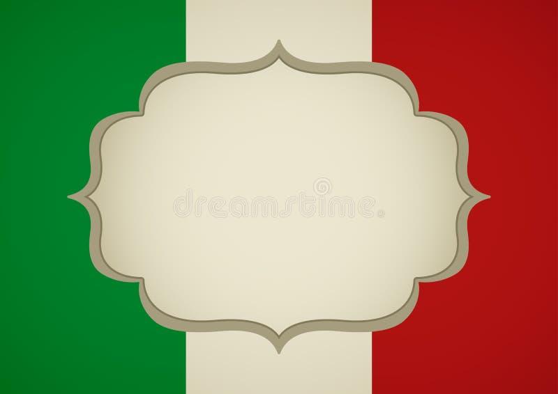 Marco en blanco en las insignias de Italia ilustración del vector