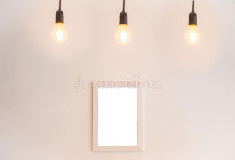 Marco en blanco en un fondo blanco imagen de archivo libre de regalías