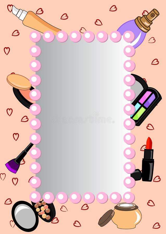 Marco-espejo de los cosméticos ilustración del vector