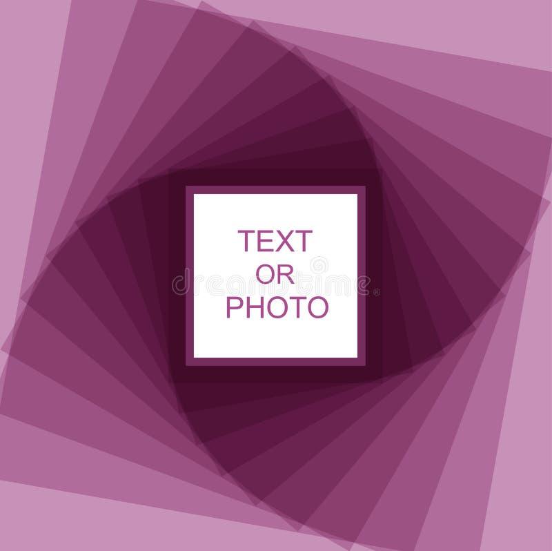 Marco espiral violeta ilustración del vector