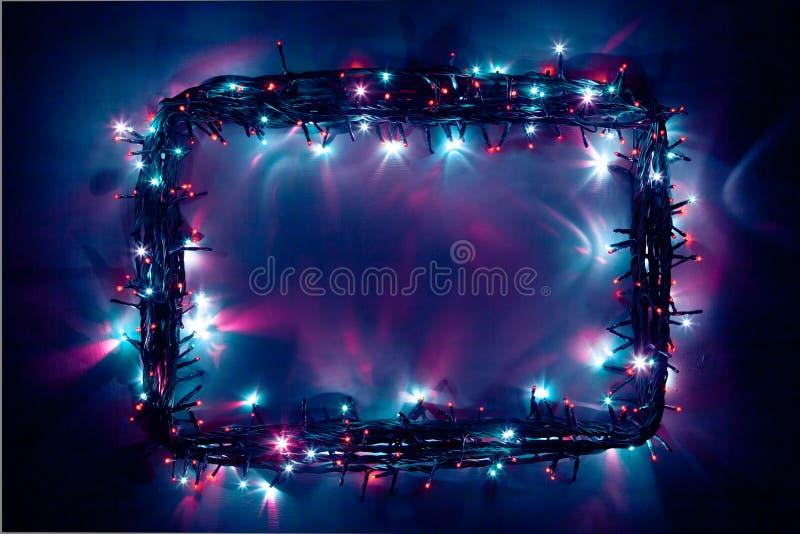Marco festivo de las luces imagenes de archivo