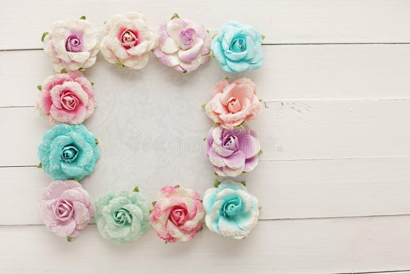 Marco floral imagenes de archivo
