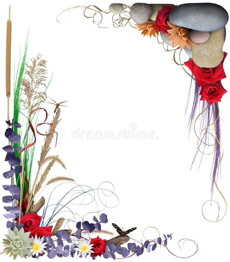 Marco floral 2 stock de ilustración