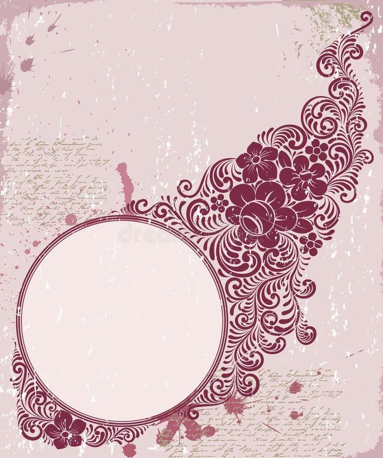 Marco floral ilustración del vector