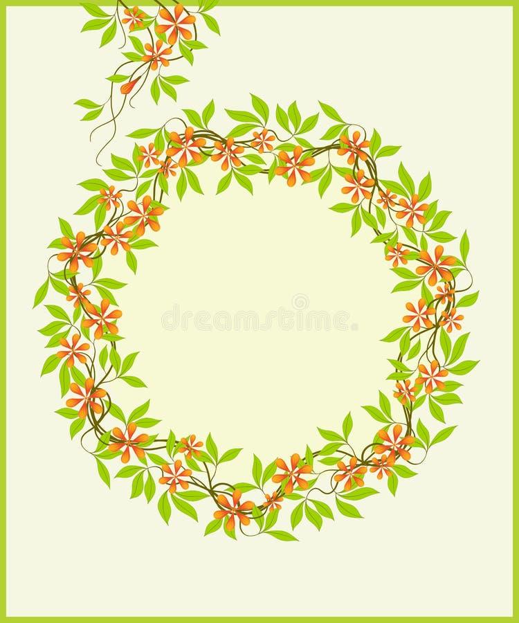Marco floral. stock de ilustración