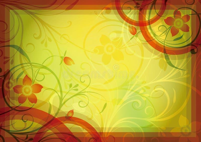 Marco floral abstracto imagenes de archivo