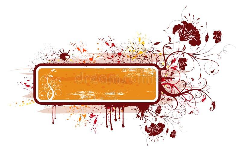 Marco floral abstracto ilustración del vector
