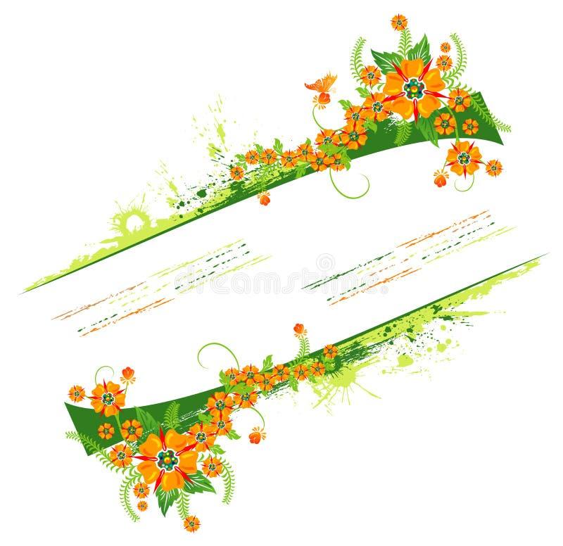 Marco floral abstracto stock de ilustración