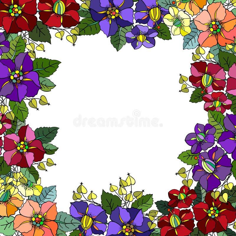 Download Marco floral abstracto ilustración del vector. Ilustración de contorno - 44855219