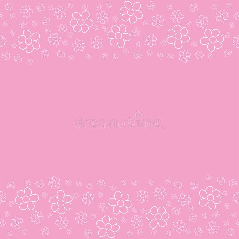 Marco Floral Abstracto En Un Fondo Rosado Para Las Impresiones ...