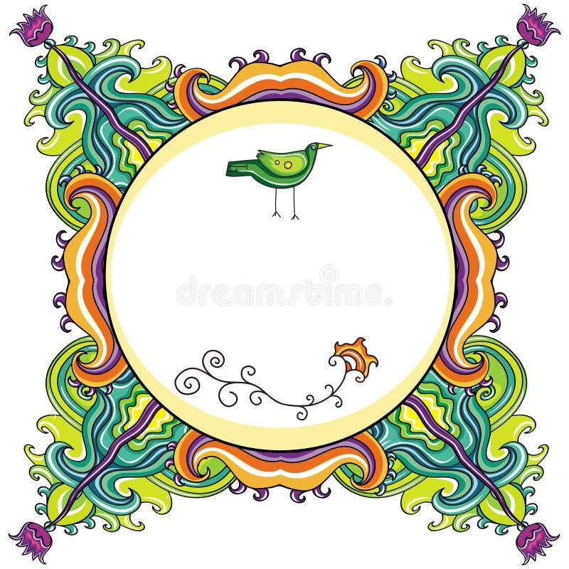 Marco floral abstracto (series) stock de ilustración