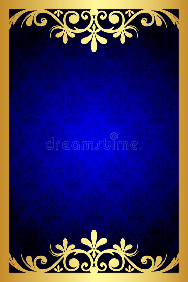 Marco floral azul ilustración del vector