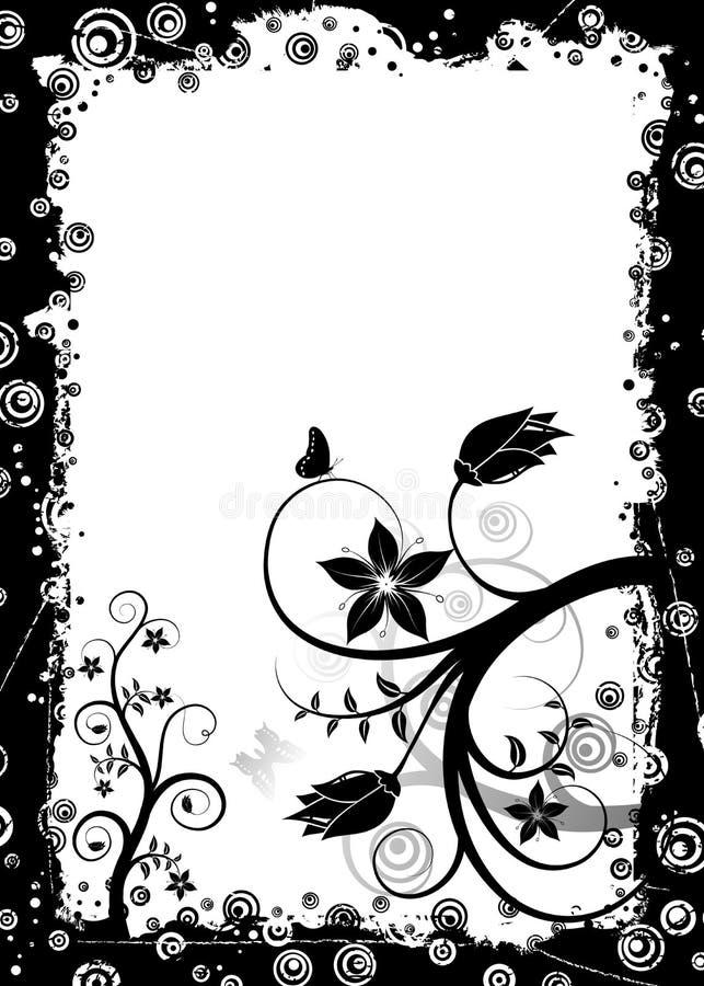 Marco floral de Grunge, vector libre illustration