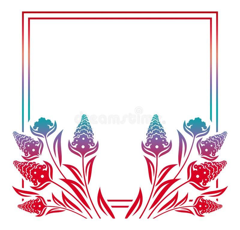 Marco floral de la silueta abstracta libre illustration