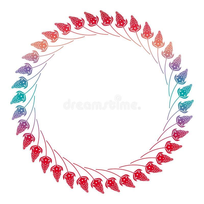 Marco floral de la silueta abstracta ilustración del vector