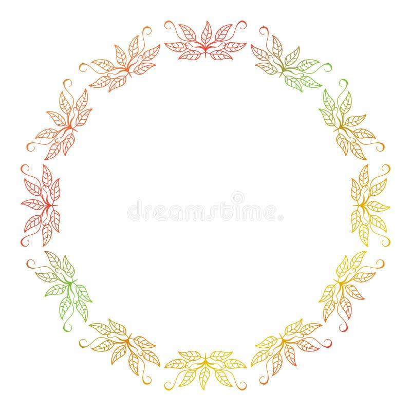 Marco floral de la silueta abstracta stock de ilustración