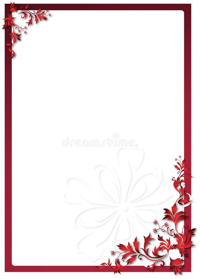 Marco floral de la tarjeta del día de San Valentín ilustración del vector
