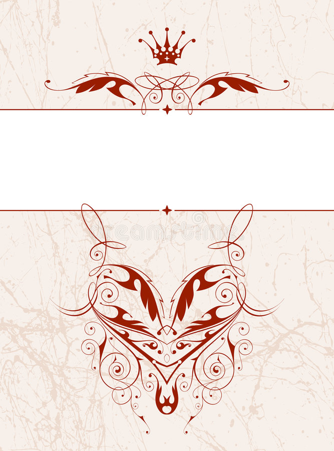 Marco floral de la vendimia ilustración del vector