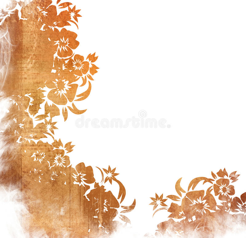 Marco floral de los fondos del estilo stock de ilustración