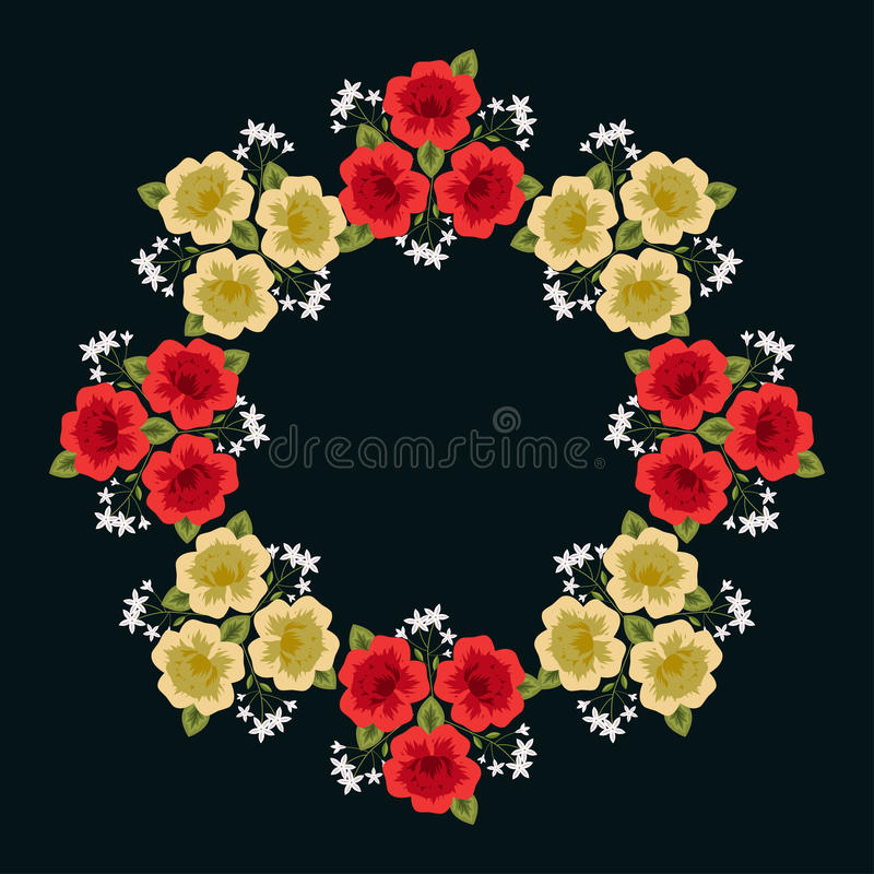 Marco floral decorativo ilustración del vector