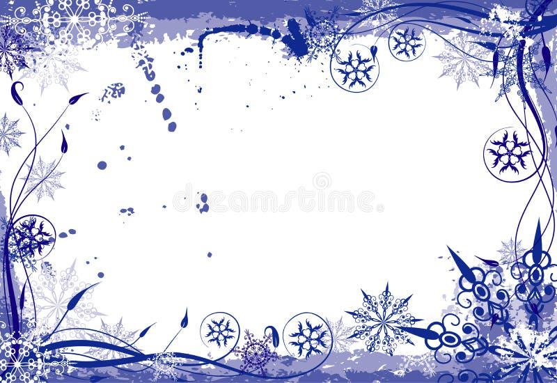 Marco floral del grunge del invierno libre illustration