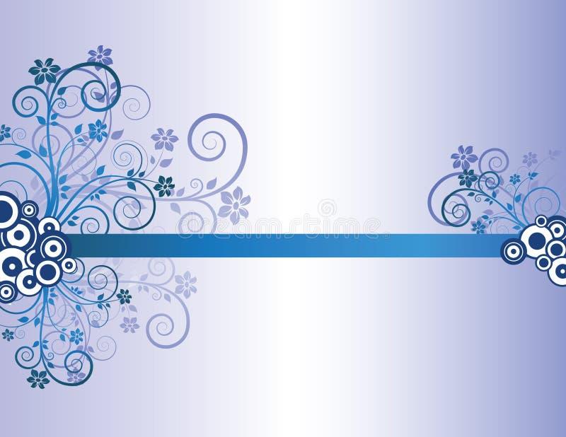 Marco floral del invierno stock de ilustración