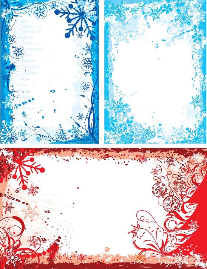 Marco floral del invierno, vector ilustración del vector